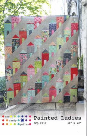 Painted Ladies lap quilt ECQ 2117