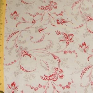 Etchings Fine Lined Floral Swirls Red/Gray 4067 26