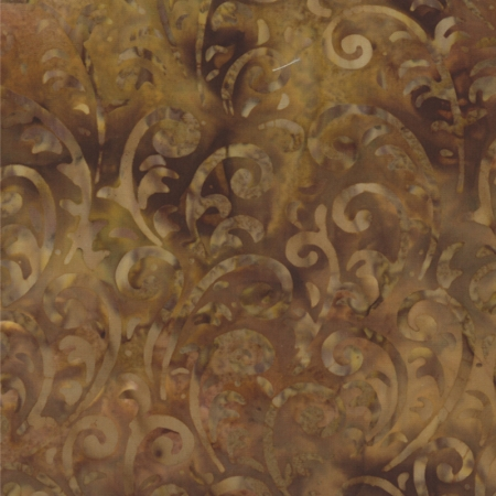 Hope Chest Batik Golden Wheat Swirls 42139-50