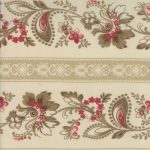 Josephine Floral Border Stripe on Pearl 1351-16