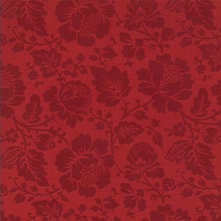 Josephine Floral Tonal Rouge 13654-16