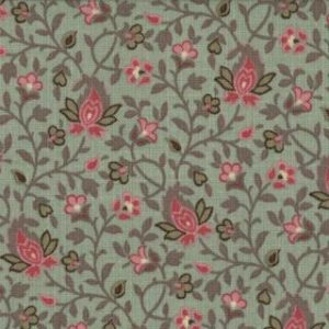 La Belle Fleur Med Sm Rose and Verde Floral on Pearl 13635-13