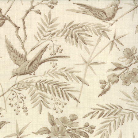 La Belle Fleur Pearl/Ecru Toile Floral with Birds 13630-17