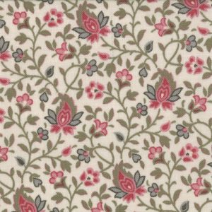 La Belle Fleur Med Sm Rose and Verde Floral on Pearl 13635-16