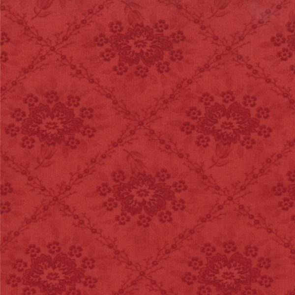 Midwinter Reds Red Tonal Floral Trellis 14761-13