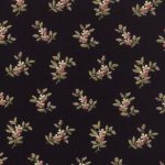 Old Fashioned Calicoes Med Dual Blooms on Black 8201-11