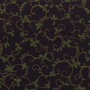 Winter Elegance Holiday Swirl Midnight Black 32678-15