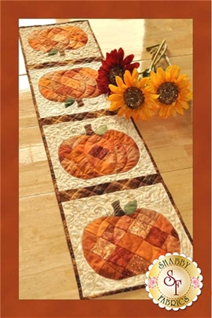 Patchwork Pumpkin Table Runner 12.5 x 53 SF48568 Shabby Fabrics