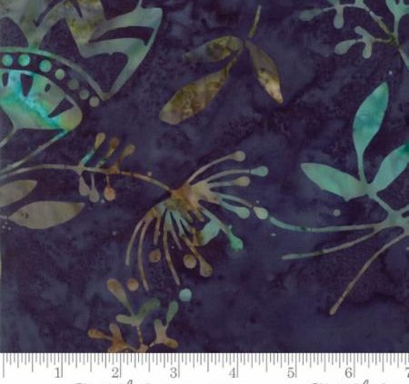 Sweet Blend Batik Hydrangeas Dark Blue 42299 16