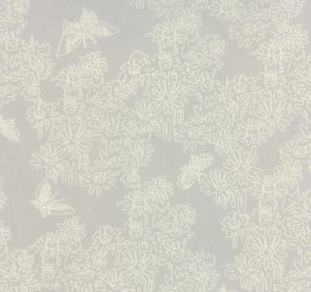 Alpine Stone Grey Tonal with Flowers and Butterflies 26102 20
