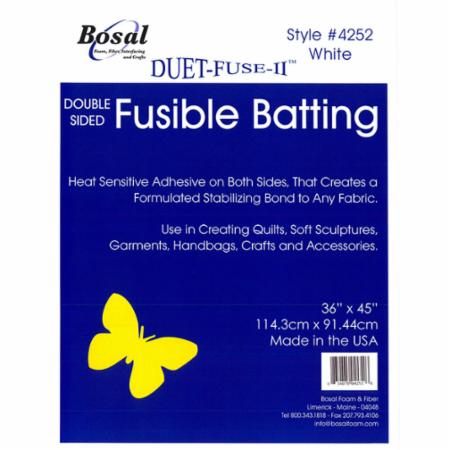 Duet Fuse II Fusible Batting 45 x 36 7oz Bosal 4252