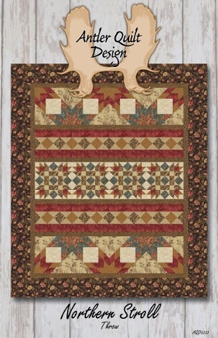Northern Stroll Throw - Antler Quilt Designs AQD0233