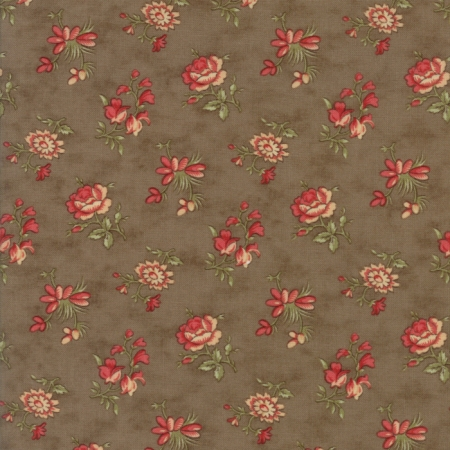 Courtyard Blossom Buds on Stone Brown 44124-20