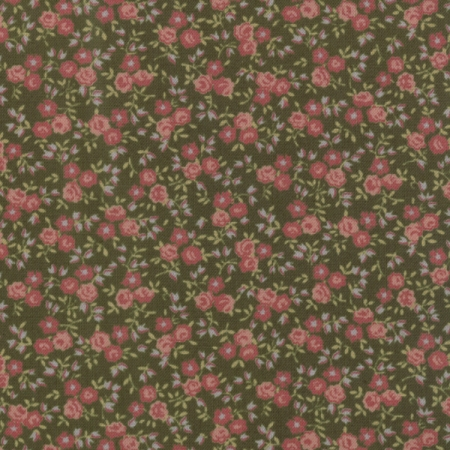 Old Fashioned Calicoes Sm Flowers on Green 8208-13