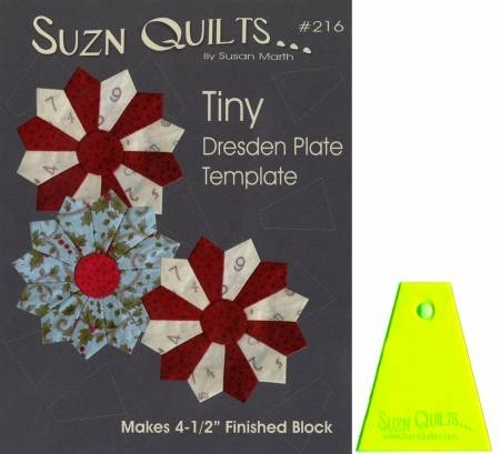 Tiny Dresden Plate Template SUZ216