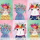 Floral Pets - Floral Kitty Multi 129.101.02.1
