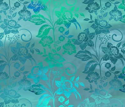 Diaphanous Enchanted Vines Teal Mist 5ENC-3