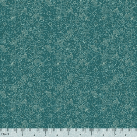 Floral Pets Sigrid Turquoise 129-10-.04-1