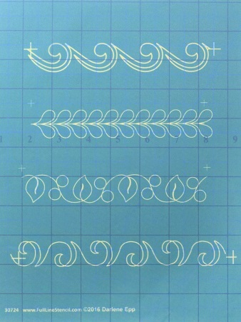 Full Line Stencil One Inch Borders H30724