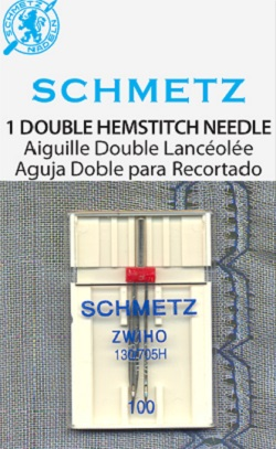 Schmetz Dbl Hemstitch Wing Machine Needle Size 100 1773