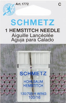 Schmetz Hemstitch Wing Machine Needle Size 100-16 1772