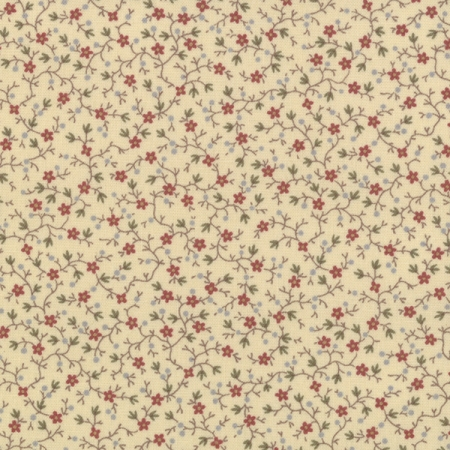Old Fashioned Calicoes Tiny Vined Blooms on Off White 8203 16