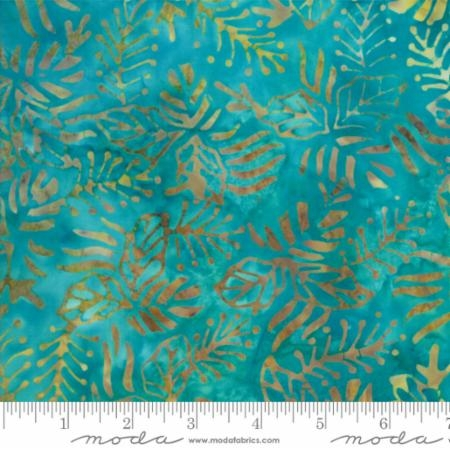 Rising Tide Batik Ocean Aquamarine Leaves 4342 24