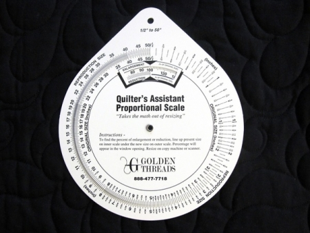 Quilters Proportional Scale QAPRO Golden Threads