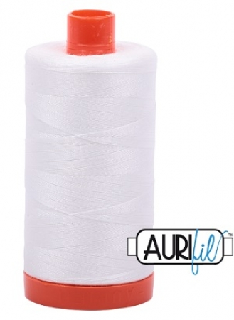 Aurifil Thread 50wt Natural White 2021 1421 yd