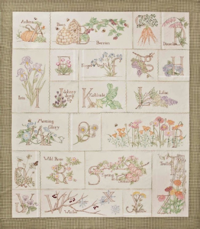 A Gardeners Alphabet - Hand Embroidery Pattern Set