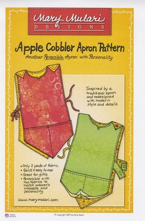 Apple Cobbler Apron Pattern Front MUP08