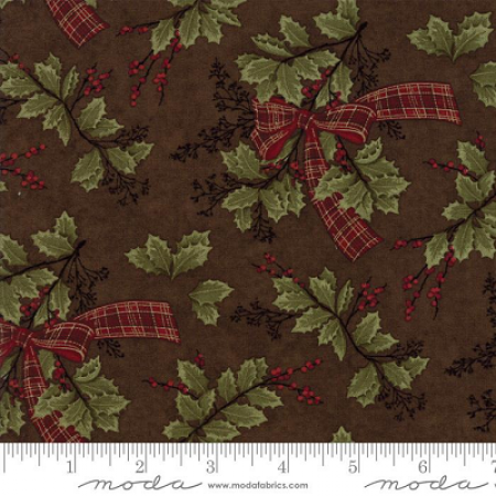 Forever Green Brown Holly & Ribbon 6692-19