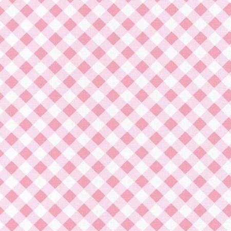Wonderland-2 Gingham Pink and White C5775R-WHITE