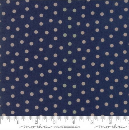 Sweet Blend Prints Polka Dot Blueberry Fabric 42295-13
