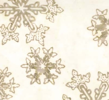 Let It Snow Batik Tan on Cream 42012-14