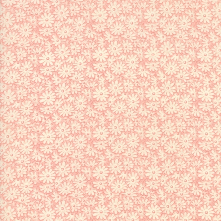 30s Playtime 2017 Tonal Pink Outlined Flowers on Pink 33215-15