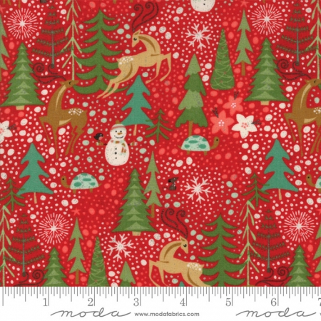 Berry Merry Med Lg Allover Print on Scarlet 30470-13