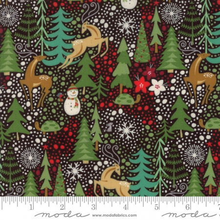 Berry Merry Allover Med-Large Print on Charcoal 30470-17