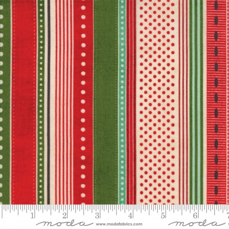 Berry Merry Multi Color Stripe on Forest 30472-15