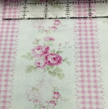 Slipper Roses - Country Pink Border Print PWTW085