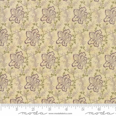 Lilac Ridge Etched Leaves Cream 2214-11