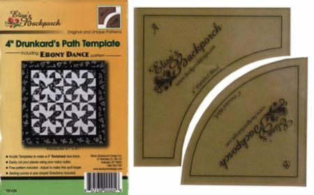 Drunkards Path Templates 4in EBD 05 Elisas Backporch